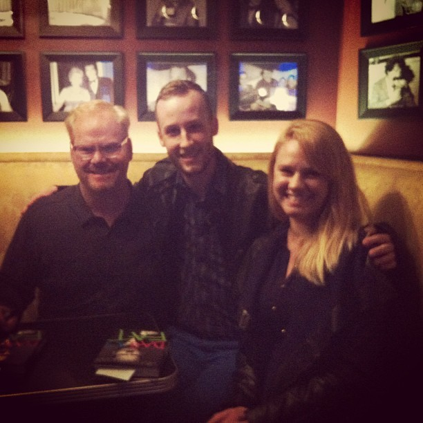 Just hangin' with @jimgaffigan and @sarahjoannesmith. (at UP Comedy Club)
