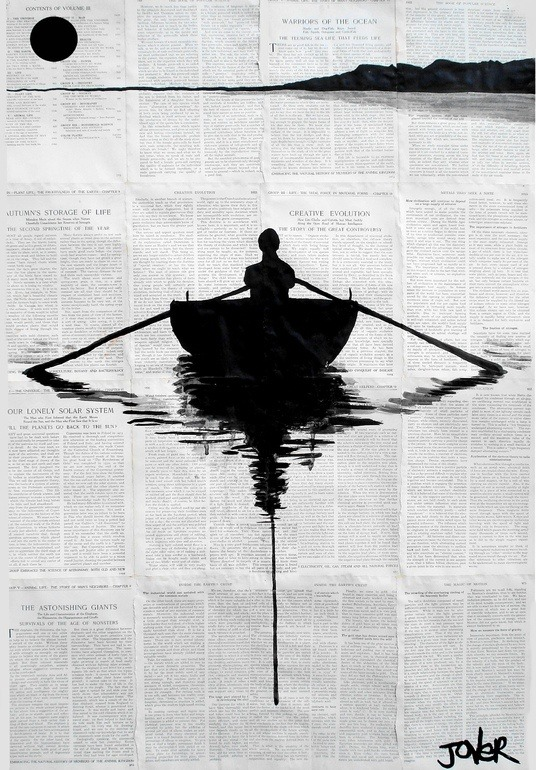 wasbella102:  By Loui Jover; Pen and Ink Drawing a simple plan