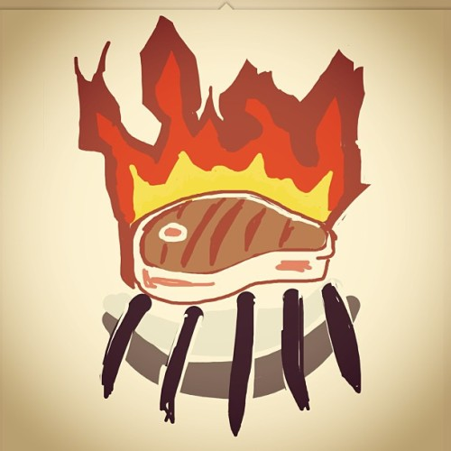Hah. Really need to practice more… #DrawSomething #Steak #Draw #iPad