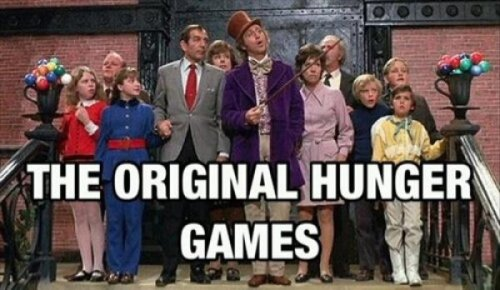 collegehumor:  The Original Hunger Games If you die, YOU LOSE! YOU GET NOTHING!
