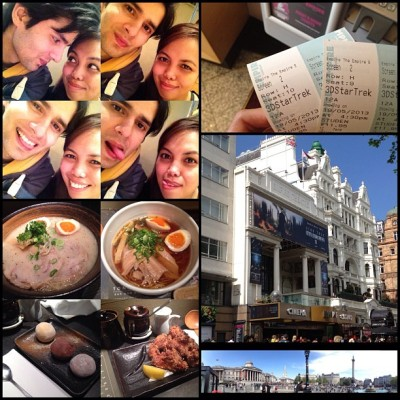 #Sunday date roundup: ate #Ramen for lunch at #Tonkotsu, went to Trafalgar Square and watched #StarTrek at Empire Cinema in #LeicesterSquare. ☺👫 #weekend #London (at Empire Leicester Square)