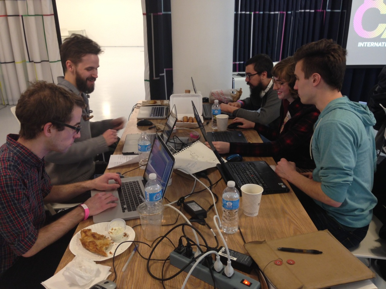 indiecade:  The teams are hard at work for the PlayStation Mobile hosted GamJam. See what they come up with at IndieCade East, Feb 15-17, at the Museum of the Moving Image in Queens, New York.   You, me and @hentaiphd