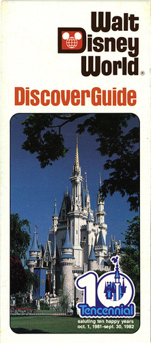 Walt Disney World Discover Guide Brochure-Front (1981-1982) by scad92 on Flickr.
