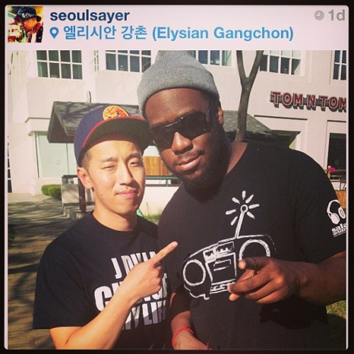 Robert Glasper rocking #afriqueelectrique gear! Make sure you get yours! We'll have some in Sunday at The Sound Table!