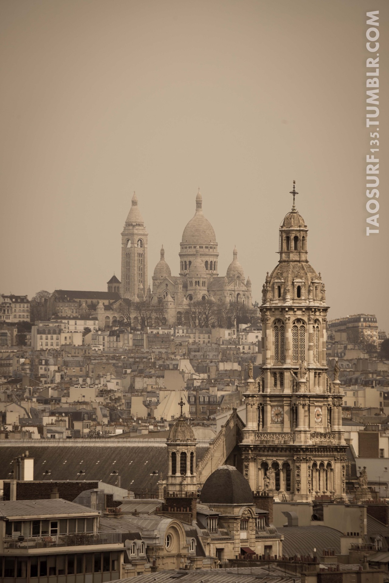 on the roofs of Paris…. 5D MK II + 70/200 + the little thing that makes a great picture ;)