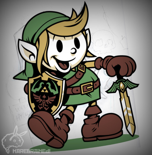 "WIP: ""Vintage Link"" by Harebrained.Follow Harebrained on Facebook!"