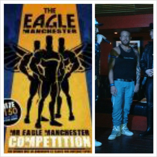 Well deserved winner, Mr Eagle Manchester 2013 Steven Ayres. It was an honour to share the stage with you! #EaglebarManchester #MrEagleManchester2013 #Instagay #gayfetish #titlewinner #manhunt #RoBManchester