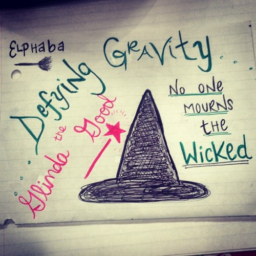 I like to practice my handwriting in class #defyinggravity #wicked #musicals #omgimsobored