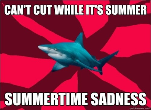 I've got that summertime, summertime sadness…