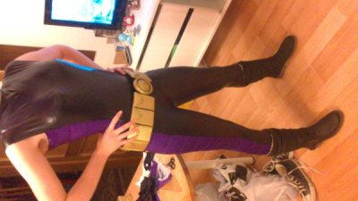 Almost done with my Stephanie Brown Batgirl suit! Only collar and sleeves left :) (shoes will be exchanged of course)