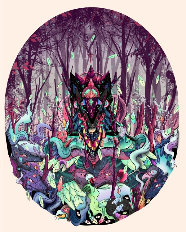heavygraffic:  piñatha - part of the creatures of the forest series