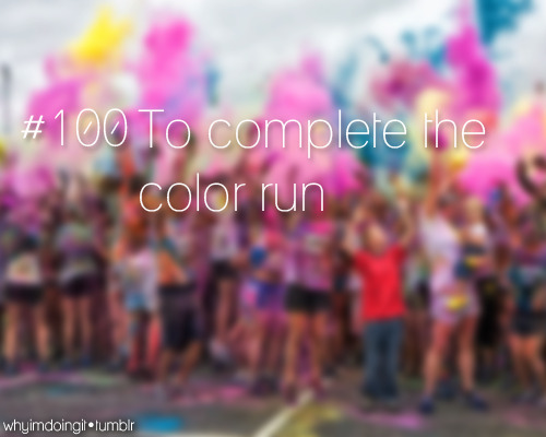 #100 To complete the color run