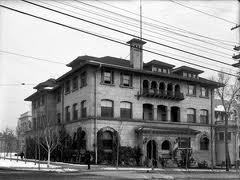 ghostsandhistory:  Utah Alta Club, Salt Lake City: A Country Club On Fire The Alta Club was a social club which had hotel rooms on the top floor in which members could live if they wished. As the story goes, there was a man who fell asleep on the coach with a burning cigar in his hand. It caused a fire in which not only most of the top floor was consumed, but the man died. You can still see some of the soot from the fire above the outside windows on the top floor. Many have seen the man (from which pictures were taken) who died in the fire wandering the halls of the hotel room floors. Mostly he looks at his room and can disappear with a second look. Unexplained but true, there is also a ghost in the basement who touches one lightly on the shoulder. With the ghost comes the strong smell of lilac perfume. Even today the place is still thriving as a refuge from city life for the professional elite, doing its same business since 1883.