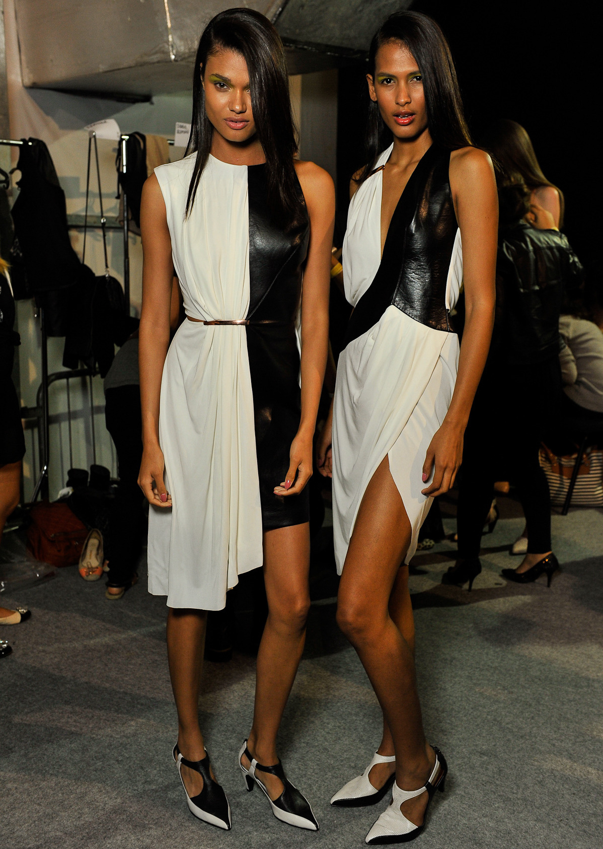 Daniela & Thanya backstage for Iodice S/S 2014