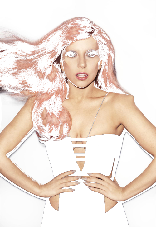 inthereligionoftheinsecure:     This transparent picture of Gaga is cool right