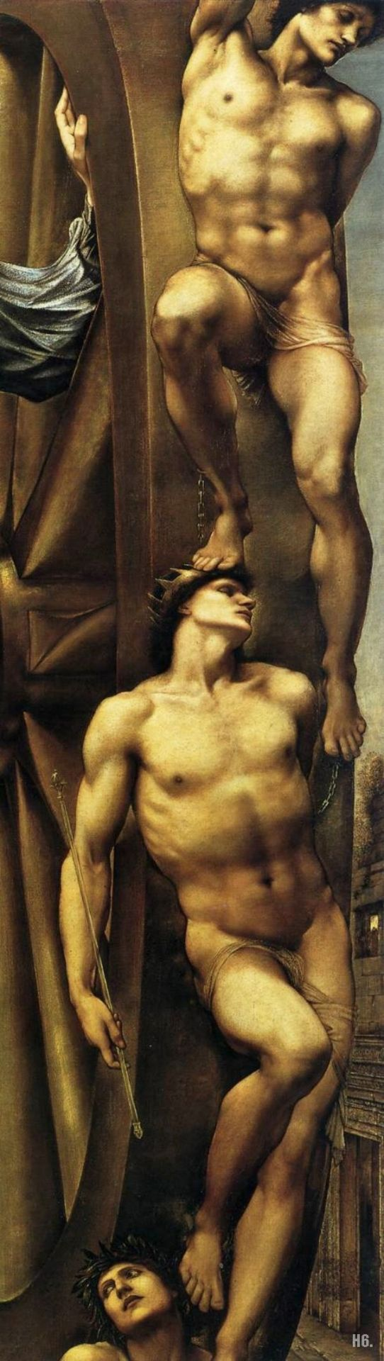 Detail : The wheel of fortune.1863. Edward Burne Jones. British. 1833-1898. oil _n canvas.        http:hadrian6.tumblr.com
