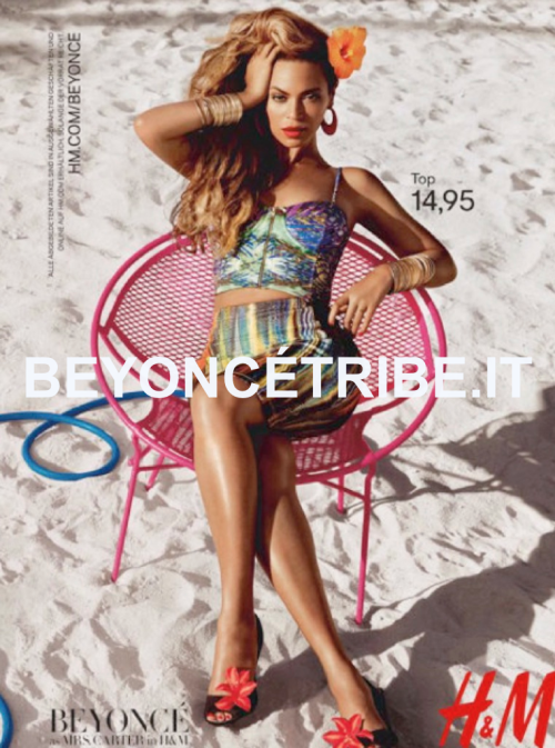beyoncetribeitalia:  Exclusive AD Beyoncé as Mrs. Carter in H&M shoot by Inez van Lamsweerde and Vinoodh Matadin 2013 .