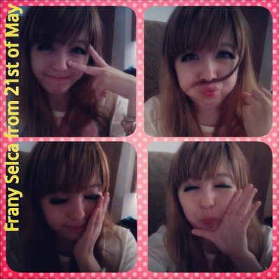 Me being Bored and Kawaii #kawaii #cute #lotd #motd #fotd #gyaru #selca #bored #mustache #kiss #hello