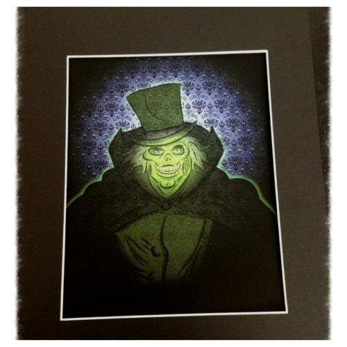 Ok foolish mortals the Haunted Mansion: Hatbox Ghost print is now for sale. $24 for print and matted. Artwork is 8x10 and is printed on Ultra Premium archival photo matte paper. Clear coating added to print for protection. Ship to the US only. Email me at customizations@gmail.com if interested.