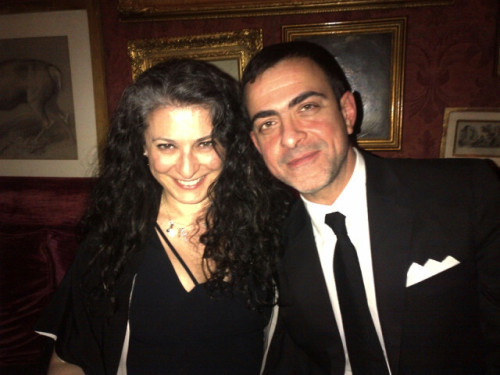 Goop Dinner - sophia Neophitou and Antonio Berardi gooping it at Gwyneth's dinner. Taffi stole lots put it in my bag for later loved the food delicious!!! Sophia Neophitou Sophia Neophitou Editor In Chief 10 & 10 Men Magazines +44 207 434 0042