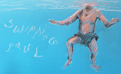Paul went swimming. It is a pun about swimming.