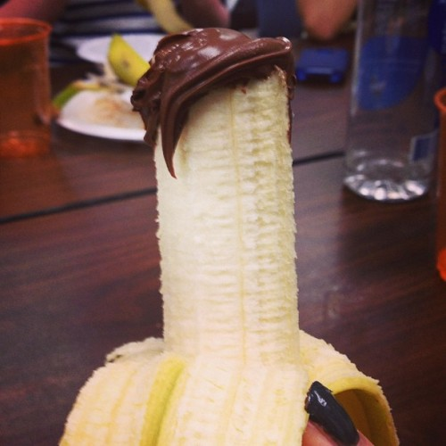 xtremecaffeine:  vvargs:  My banana looks like Matt Smith  More photogenic though.