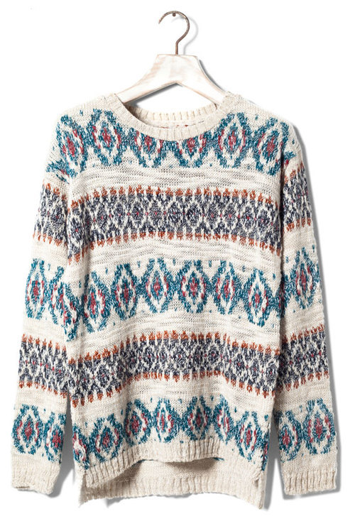 JACQUARD SWEATER - NEW PRODUCTS - WOMAN - Latvia on We Heart It. http://weheartit.com/entry/45595348/via/ksenijak