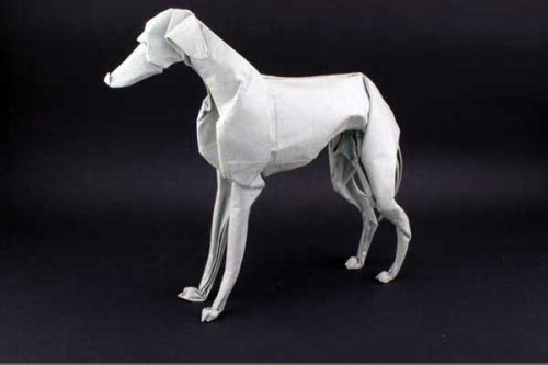 Origami greyhound by the late Eric Joisel (via Eric Joisel)
