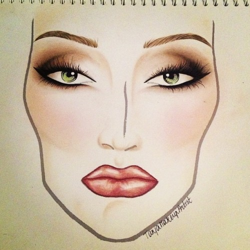 First facechart in a long time… #maccosmetics #facechart #makeup #ilovethemmacgirls