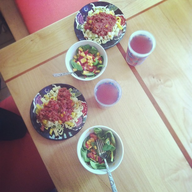 #lunch for #two! #pasta #salad #meal #loveofmylife