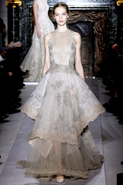 vogue:  Valentino Spring 2013 Couture Photo: Marcus Tondo/InDigitalteam/GoRunway.com See the full collection and review.