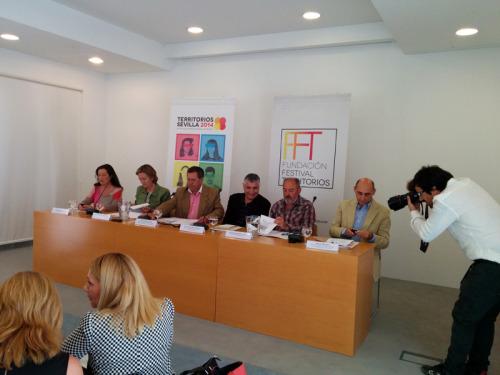Presentación de la XVII edición de Territorios Sevilla, festival para el que trabajamos el gabinete de prensa.
