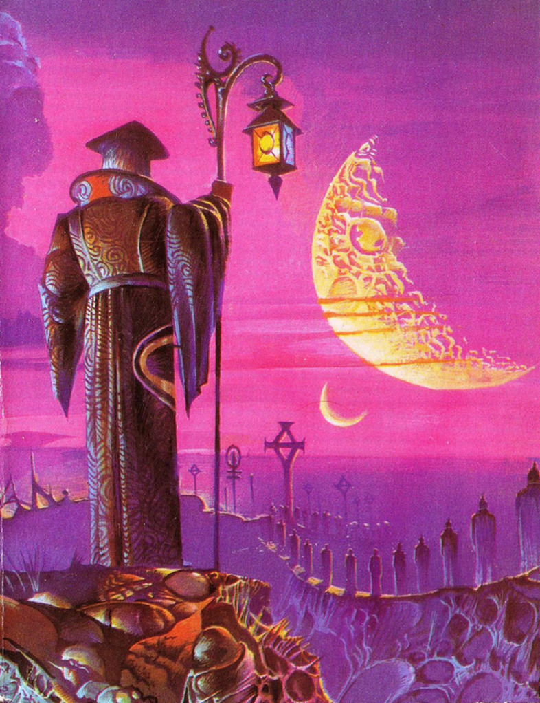 sciencefictiongallery:  Bruce Pennington - The Godmakers, 1978.