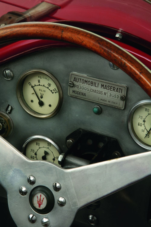 luxuryinitaly:  1956 Maserati 300S Sports-Racing Spider   This is sexy.