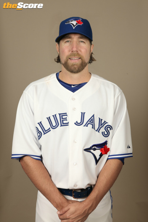 thescore:  Pic: Does Dickey look good in #BlueJays Blue?