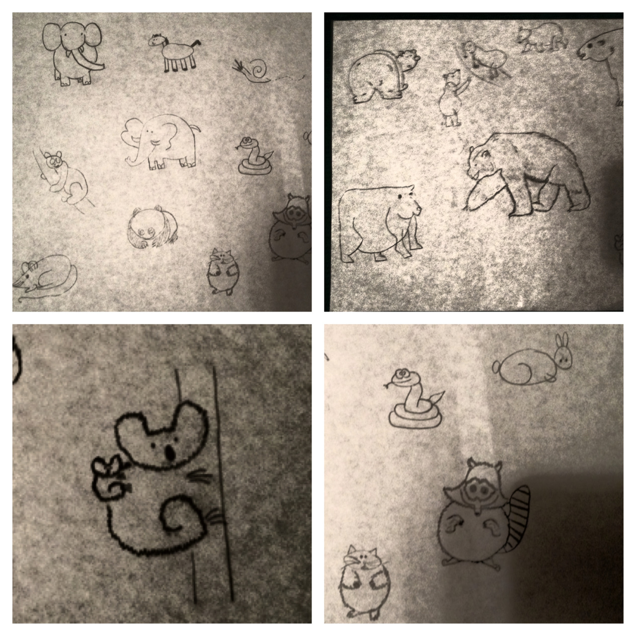 my drawings :) #notanartist #lovebears #hopeyoulikeit