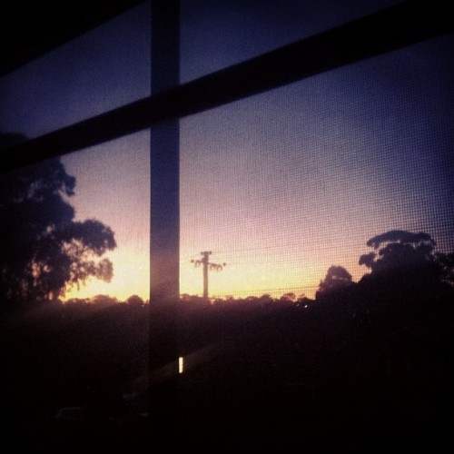 The last of the sunset through my window. #sydney #sunset #anzacday
