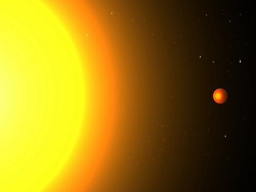 Fiery 'Lava-World' Alien Planet Discovered   The Daily Galaxy  Researchers atMIThave discovered an Earth-sized exoplanet named Kepler 78b that whips around its host star in a mere 8.5 hours — one of the shortest orbital periods ever detected. The planet is extremely close to its star — its orbital radius is only about three times the radius of the star — and the scientists have estimated that its surface temperatures may be as high as 3,000 degrees Kelvin, or more than 5,000 degrees Fahrenheit. In such a scorching environment,