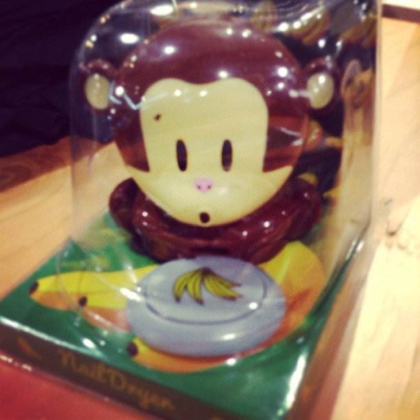 how rad is this?! a monkey nail dryer #thingsyoudontneedbutwant#monkey #nail #dryer
