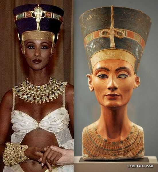 Iman as Nefertiti