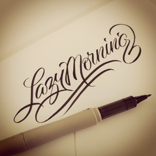 (vía Typeverything.com - Lazy Morning, warm-up lettering by Matthew…)