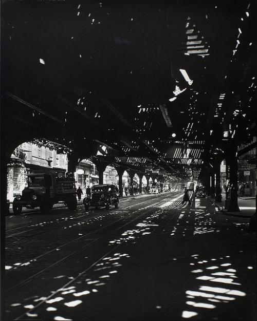 'El', Second and Third Avenue lines, Bowery taken from Divis… by New York Public Library on Flickr.