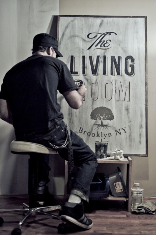 betype:  The Living Room {signage and logo}