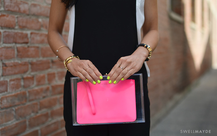 DIY | BOX CLEAR CLUTCH (image: swellmayde)