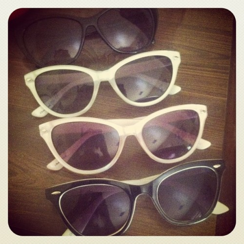expanding my cat eye sunglasses collection :)