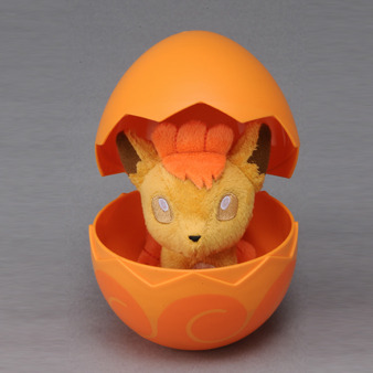 simplypokemon:  pink-pokemon:  Pokemon Egg Plush by Takara TOMY — Coming April 2013  how adorable!   I want this so badly