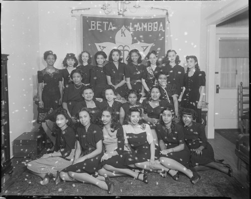 vintageblackglamour:  Happy Founders Day to the wonderful women of Alpha Kappa Alpha! The first sorority for African-American women was founded 105 years ago today at Howard Univerity, where this photo was taken in 1945 by the legendary photographer, Addison N. Scurlock (1883-1964). Photo: Scurlock Studio Records, ca. 1905-1994, Archives Center, National Museum of American History.
