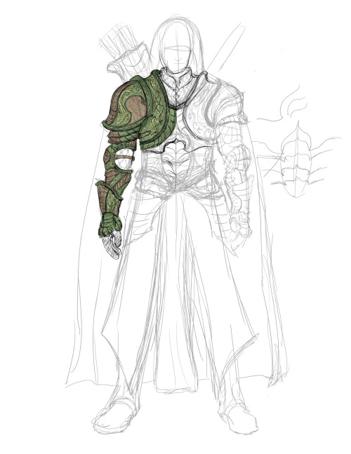 armor 1st rough sketch