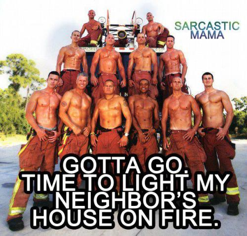 The caption pretty much says it all. HOT firemen.