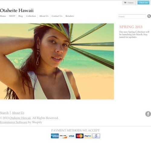Our new collection is ready for Pre order at www.otaheitehawaii.com your card will not be charged until it ships! Ships out early April. Be the first to rock our new prints!